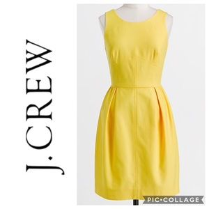 J.Crew Yellow Textured Dress Sz 2